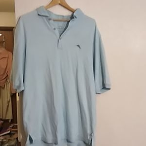 Tommy Bahama blue polo shirt LT